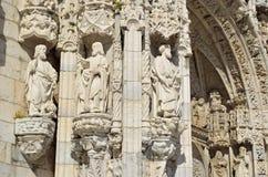 Detalle arquitectónico del DOS Jeronimos de Mosteiro Foto de archivo