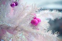 Detalle artificial del árbol de navidad Fotografía de archivo