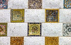 Detalle ascendente cercano de un mosaico geométrico foto de archivo libre de regalías