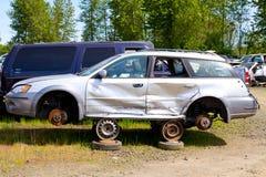 Detalle auto del depósito de chatarra de la colisión Fotografía de archivo libre de regalías