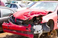 Detalle auto del depósito de chatarra de la colisión Imagen de archivo