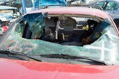 Detalle auto del depósito de chatarra de la colisión Imagen de archivo libre de regalías