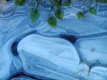 Detalle azul del hielo Imágenes de archivo libres de regalías