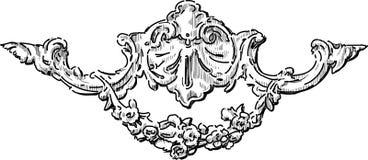 Detalle barroco arquitectónico ilustración del vector