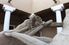 Detalle bien antiguo en el fuerte de Al Masmak Fotos de archivo libres de regalías