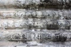 Detalle blanco de la textura de la pared en Angkor Wat Fotografía de archivo libre de regalías