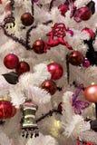 Detalle blanco del árbol de navidad Imágenes de archivo libres de regalías