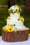 Detalle blanco del pastel de bodas Fotografía de archivo