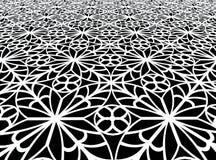 detalle blanco y negro ornamental 3d Foto de archivo libre de regalías