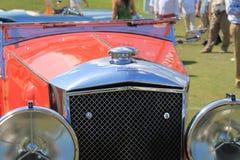 Detalle británico antiguo del frente del coche Imagen de archivo libre de regalías