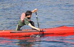 Detalle cercano Flatwater Kayaking Fotos de archivo