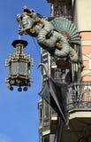 Detalle chino del dragón en Barcelona, España Foto de archivo