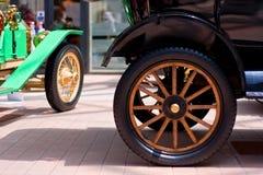 Detalle clásico de los coches de la vendimia Imagen de archivo