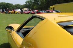 Detalle clásico del lado del coche de deportes de Lambo Imagen de archivo