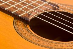 Detalle clásico de la guitarra Foto de archivo libre de regalías