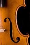 Detalle clásico del vionlin Foto de archivo libre de regalías