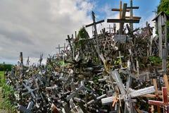 detalle Colina de cruces Siauliai lituania Fotografía de archivo