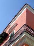 Detalle colonial del edificio Imagen de archivo