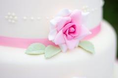 Detalle color de rosa de la torta Fotos de archivo libres de regalías