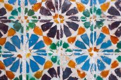 Detalle colorido de la teja, típico en Lisboa, Portugal Imagen de archivo libre de regalías