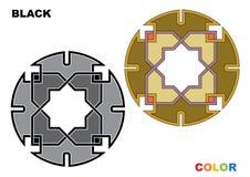 Detalle colorido ornamental islámico del diseño de la textura decorativa árabe del arabesque del ejemplo del mosaico geométrico ilustración del vector