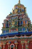 Detalle complejo del templo hindú más grande en el hemisferio meridional, templo de Sri Siva Subramaniya, Nadi, Fiji, 2015 fotografía de archivo
