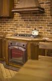 Detalle con clase del interior de la cocina Imagen de archivo libre de regalías