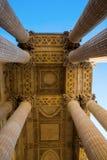 Detalle con las columnas del panteón en París Imágenes de archivo libres de regalías