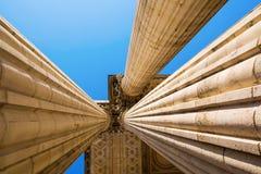 Detalle con las columnas del panteón en París Imagen de archivo libre de regalías