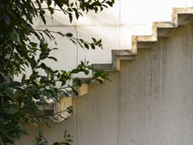 Detalle concreto de las escaleras Imagen de archivo