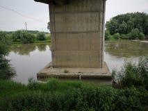 Detalle concreto del puente en Europa del este Imagenes de archivo