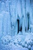 Detalle congelado de la cascada Foto de archivo libre de regalías