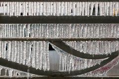 Detalle congelado de la cerca del hierro fotografía de archivo libre de regalías