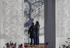 Detalle conmemorativo de la pared NY del Cuerpo del Marines fotografía de archivo libre de regalías