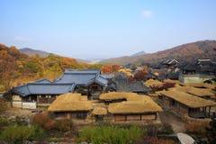 Detalle coreano de la arquitectura en la ciudad de Seul Imagen de archivo