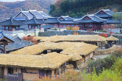 Detalle coreano de la arquitectura en la ciudad de Seul Fotografía de archivo