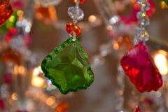Detalle cristalino colorido de la lámpara Foto de archivo libre de regalías