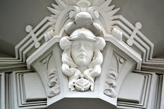 Detalle de Art Nouveau Building fotografía de archivo