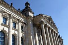 Detalle de Berlín Reichstag Imagen de archivo