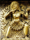 Detalle de Bhaktapur de la puerta de oro fotografía de archivo libre de regalías
