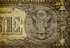 Detalle de Bill de dólar Imagen de archivo