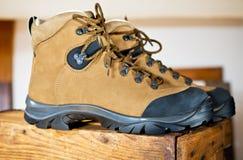 Detalle de botas que caminan Fotografía de archivo libre de regalías