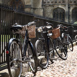 Detalle de bycicles en la calle Fotos de archivo