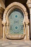 Detalle de Casablanca de la mezquita de Hassan II Foto de archivo libre de regalías