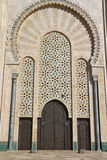 Detalle de Casablanca de la mezquita de Hassan II fotos de archivo
