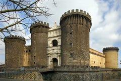 Detalle de Castel Nuovo - Maschio Angioino - Nápoles Imagenes de archivo