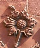 Detalle de cerámica de la flor de Taj Mahal en Agra, la India Imágenes de archivo libres de regalías