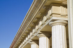 Detalle de columnas clásicas Imagen de archivo libre de regalías