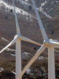 Detalle de dos molinoes de viento Imagenes de archivo