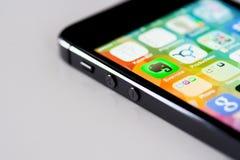 Detalle de IPhone 5S Fotografía de archivo libre de regalías